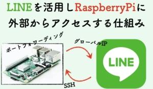 LINE通知を活用すれば、ラズパイを固定(静的)グローバルIPにしなくても良いんです。