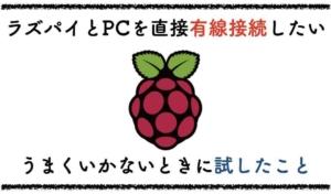 RaspberryPiが有線LANで直接PCに繋がらない時に試したこと